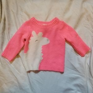 4/$16 Carter's Neon Pink Oversized Llama Sweater